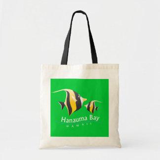Hanauma Bay Hawaii - Moorish idol Canvas Bags