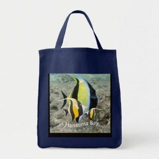 Hanauma Bay Hawaii Moorish Idol Fish Canvas Bags