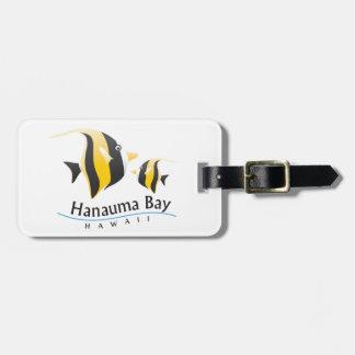 Hanauma Bay Hawaii Moorish Idol Fish Luggage Tag