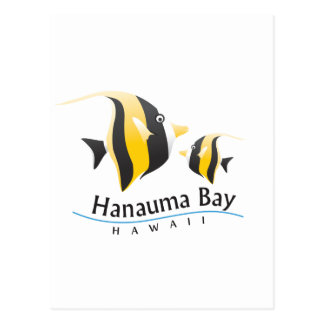 Hanauma Bay Hawaii Moorish Idol Fish Postcard