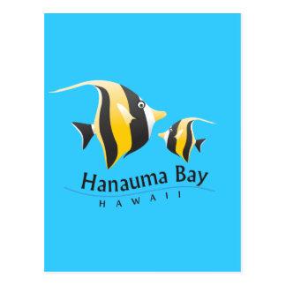 Hanauma Bay Hawaii Moorish Idol Fish Postcards
