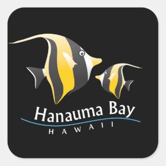 Hanauma Bay Hawaii Moorish Idol Fish Square Sticker