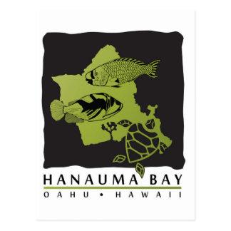 Hanauma Bay Hawaii - Oahu Map Post Cards