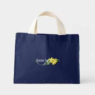 Hanauma Bay Hawaii Plumeria Flowers Mini Tote Bag