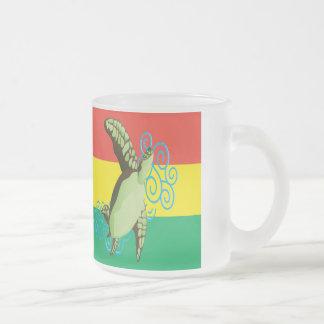 Hanauma Bay Hawaii Reggae Turtle Frosted Glass Coffee Mug