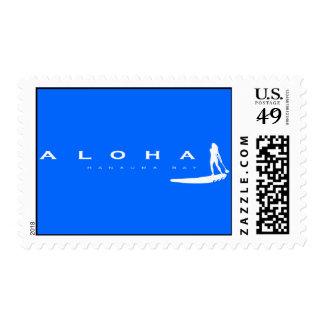 Hanauma Bay Hawaii Stand Up Paddle Postage Stamp