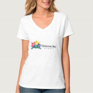 Hanauma Bay Hawaii Turtle and Hawaii Flowers T-Shirt