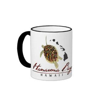 Hanauma Bay Hawaii Turtle and Hawaii Islands Ringer Coffee Mug