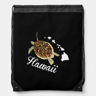 Hanauma Bay Hawaii Turtle Drawstring Backpack