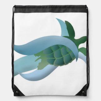 Hanauma Bay Hawaii Turtle Drawstring Bag