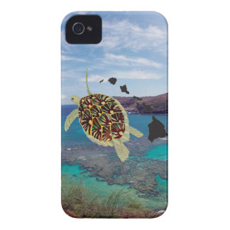Hanauma Bay Hawaii Turtle iPhone 4 Case-Mate Case