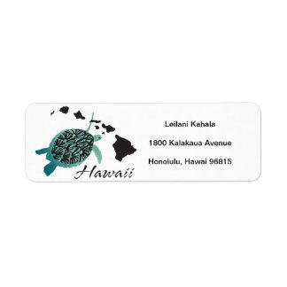 Hanauma Bay Hawaii Turtle Label