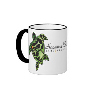 Hanauma Bay Hawaii Turtle Ringer Coffee Mug