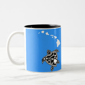 Hanauma Bay Hawaii Turtle Two-Tone Coffee Mug