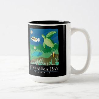 Hanauma Bay Hawaii Turtle Two-Tone Coffee Mug