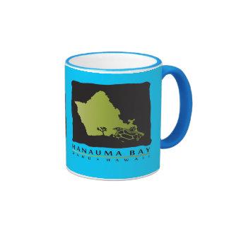 Hanauma Bay Hawaii Turtles Ringer Coffee Mug