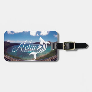 Hanauma Bay Hawaii Whale Luggage Tag