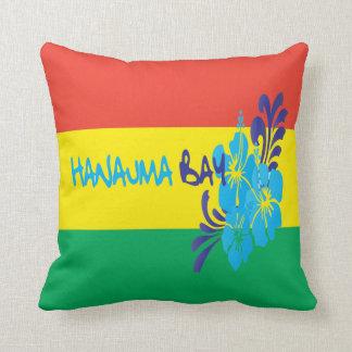 Hanauma Bay Hibiscus Flowers Pillow