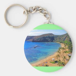 Hanauma Bay, Honolulu, Oahu, Hawaii View Basic Round Button Keychain