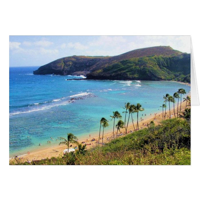 Hanauma Bay, Honolulu, Oahu, Hawaii View Card
