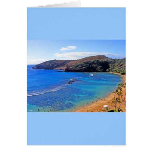 Hanauma Bay, Honolulu, Oahu, Hawaii View Greeting Card