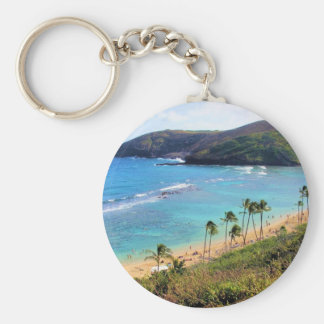 Hanauma Bay, Honolulu, Oahu, Hawaii View Keychain