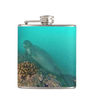 Hanauma Bay Monk Seal Hip Flasks