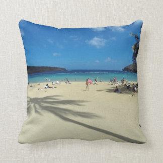 Hanauma Bay Oahu Beach Throw Pillows