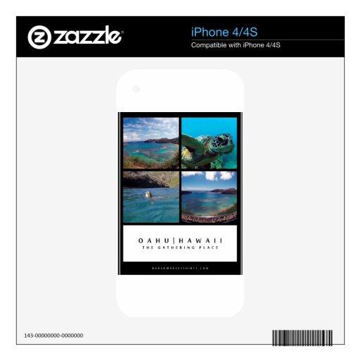 Hanauma Bay - Oahu hawaii Decal For iPhone 4