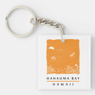 Hanauma Bay Oahu Hawaii Keychain