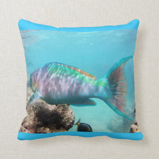 Hanauma Bay Oahu Hawaii Parrot Fish Pillows
