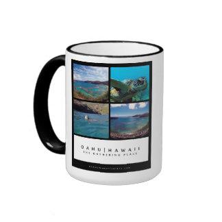 Hanauma Bay - Oahu Hawaii Ringer Coffee Mug