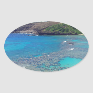Hanauma Bay Oahu Hawaii Oval Sticker