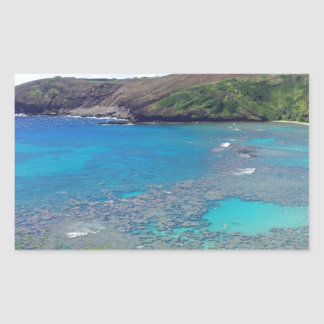 Hanauma Bay Oahu Hawaii Rectangular Stickers