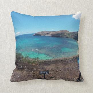 Hanauma Bay Oahu Hawaii Throw Pillows