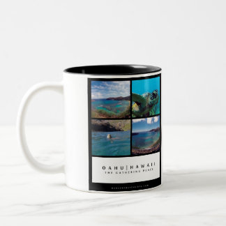 Hanauma Bay - Oahu Hawaii Two-Tone Coffee Mug