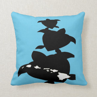 Hanauma Bay Oahu Turtle Throw Pillow