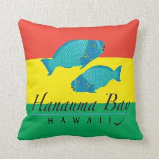 Hanauma Bay Parrot Fish Throw Pillows