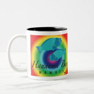 Hanauma Bay Parrot Fish Two-Tone Coffee Mug