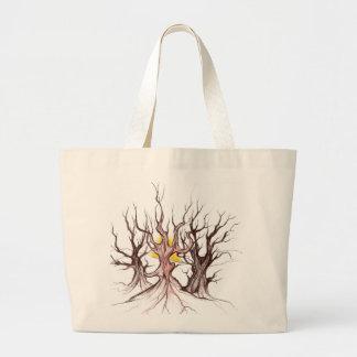 Hanbag tribal del árbol bolsas de mano