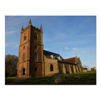 Hanbury Church Postcard