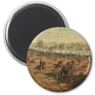 Hancock at Gettysburg by Thure de Thulstrup 2 Inch Round Magnet