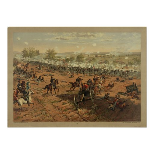 Hancock at Gettysburg by Thure de Thulstrup Posters