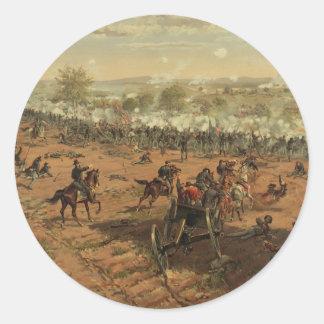 Hancock en Gettysburg de Thure de Thulstrup Pegatina Redonda