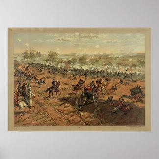 Hancock en Gettysburg de Thure de Thulstrup Póster