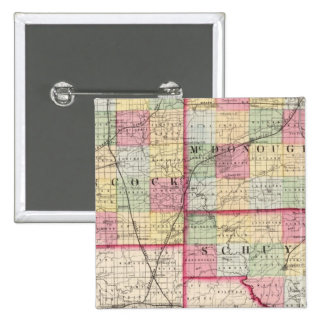 Hancock, McDonough, Schuyler counties Pinback Button