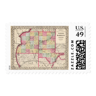Hancock, McDonough, Schuyler counties Stamp