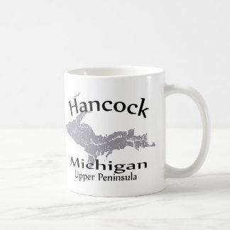 Hancock Michigan Map Design Mug Coffee Mug