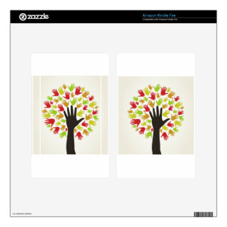 Hand a tree2 kindle fire decals