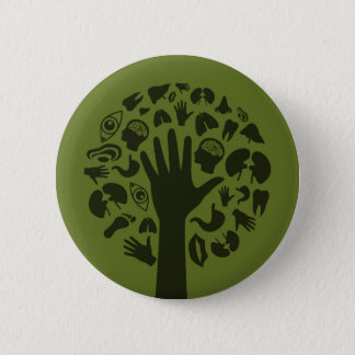 Hand a tree3 pinback button